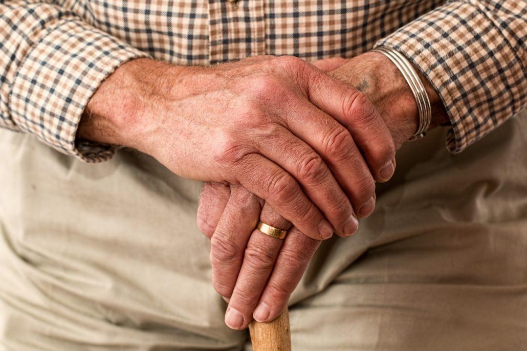 Old man's hands