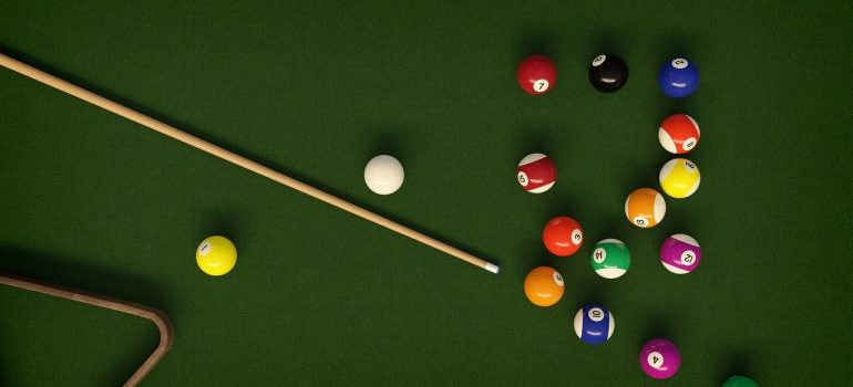 Billiard table - other than packing services Chicago, we even offer help with moving specialty items like pool tables