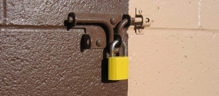 a lock pad on Storage Skokie