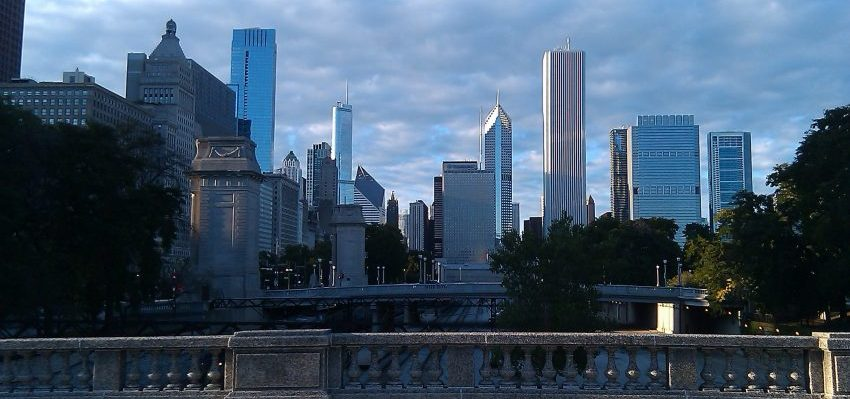 Chicago skyline after residential movers Chicago help you move here