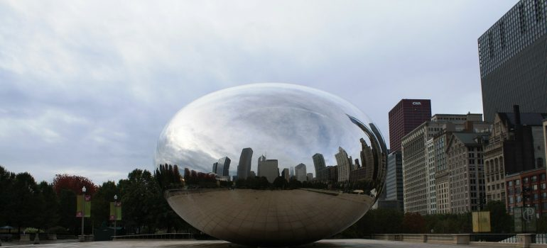Chicago bean and empty square