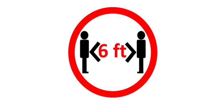 A 6-feet distance between two people