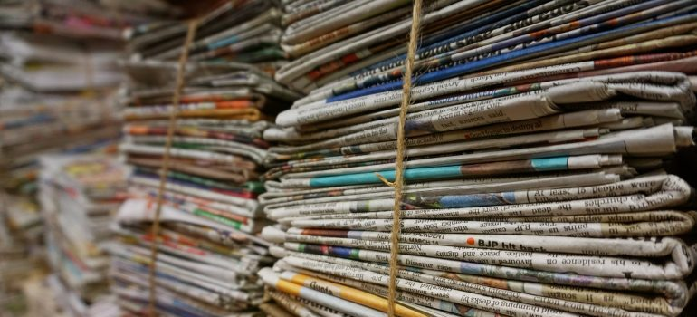 Bundles of paper documents