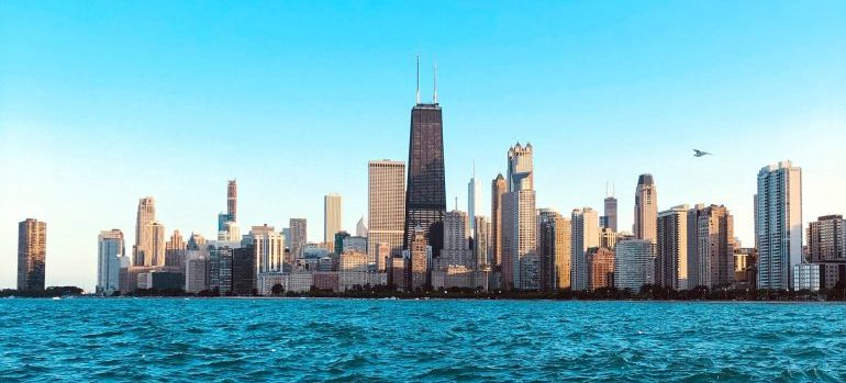 panoramic view of chicago from the water