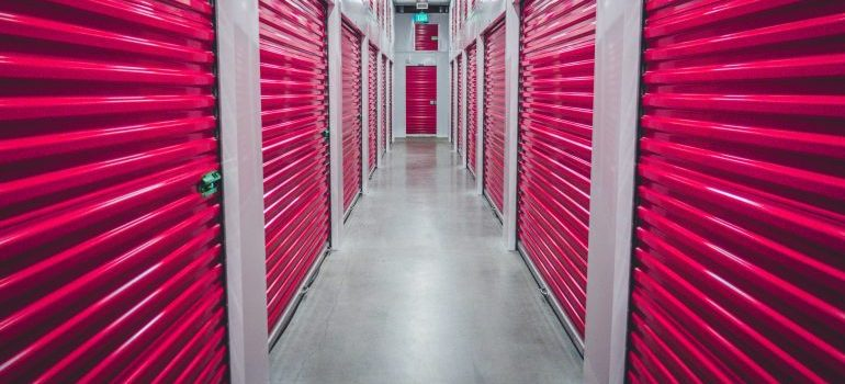 lockers for storing away sports equipment