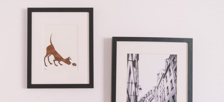 think about how to pack artwork with frames