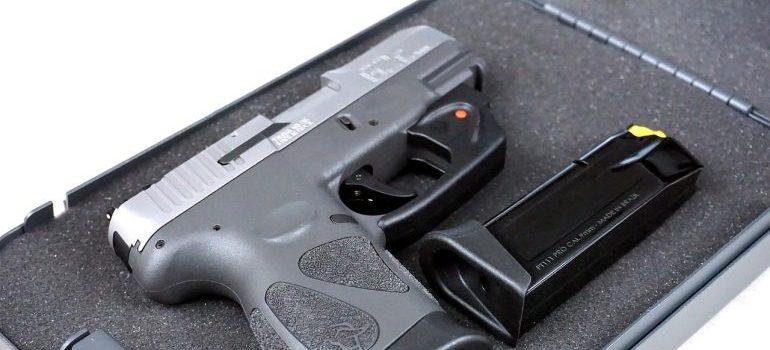 A gun in its case