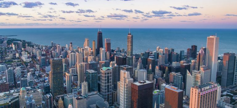 The panorama of Chicago