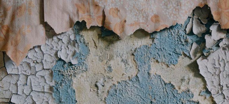 Damaged wall.