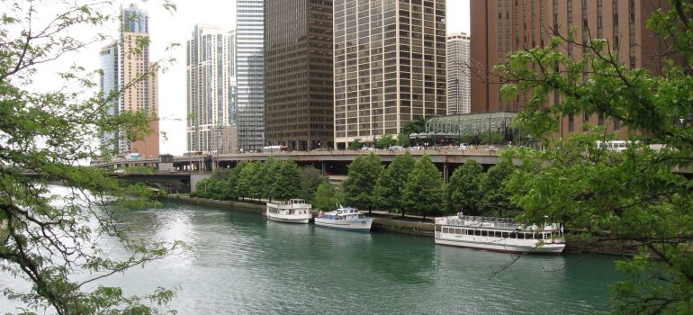 a riverside view of Chicago neighborhoods for families