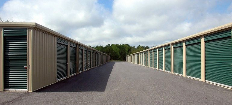 storage units exterior on a sunny day