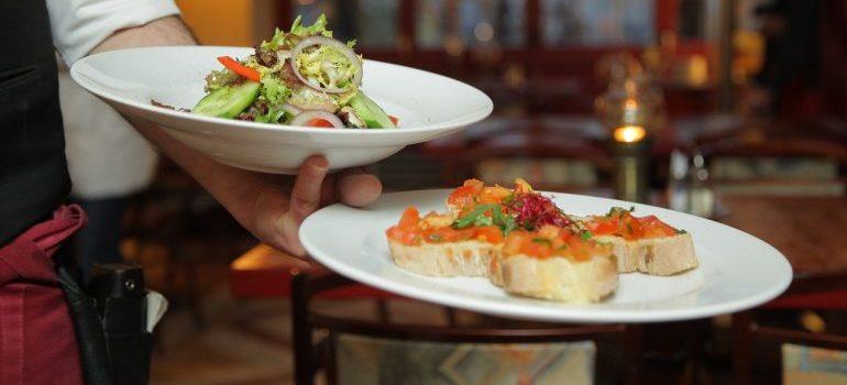 Platter of sea-food.