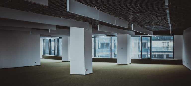 empty office with a large area carpet