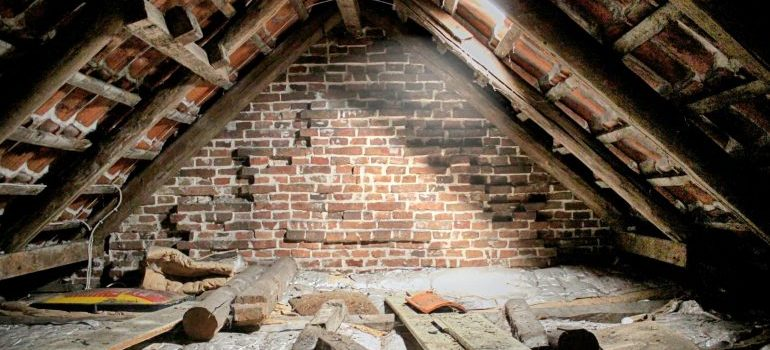 an attic before being converted into living space