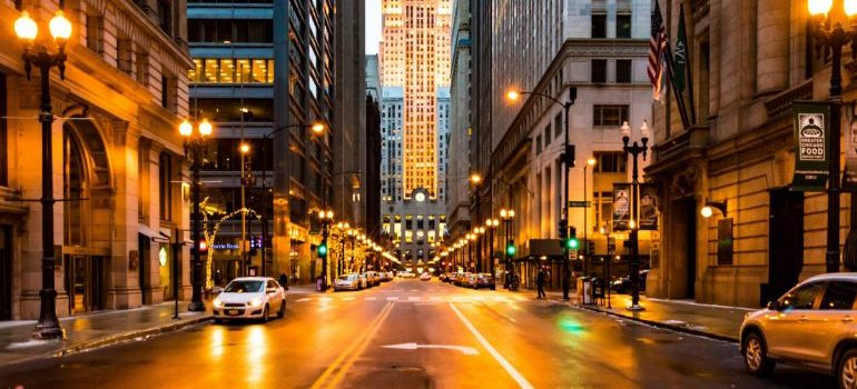 a street in downtown Chicago
