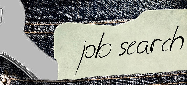a job search sign