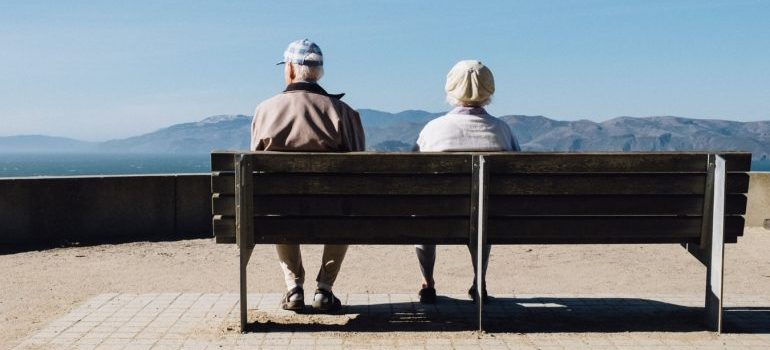 Seniors on a bench