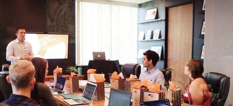 Wokers in an office