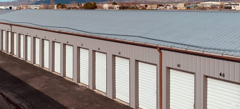 an outside view of storage units