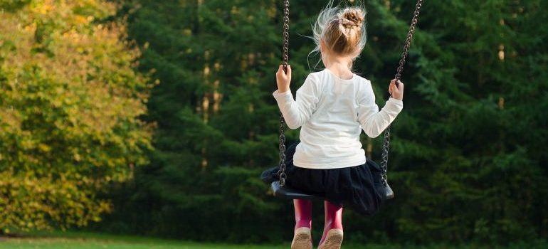 a girl on the swing