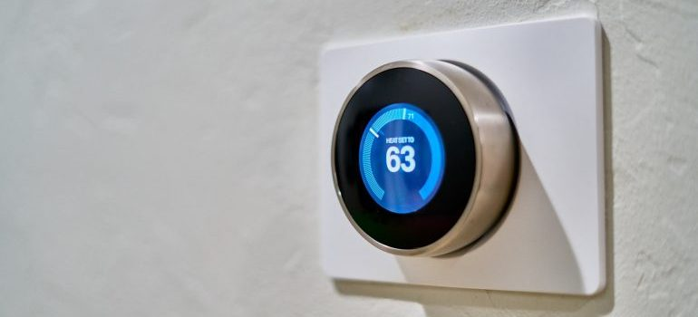 a smart appliance on the wall
