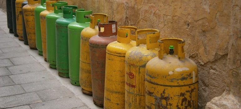 gas tanks - discuss with your movers prior to hiring