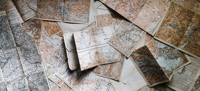 Maps on the desk