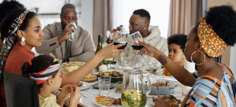 family dinner is the perfect time to tell your family about the relocation to chicago